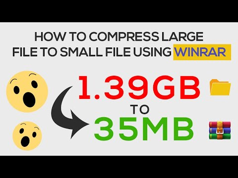 How To Compress Large File To Small File Size, From Gigabytes To Megabytes, GB To MB