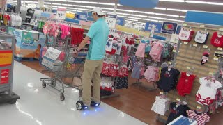 HANDS FREE SEGWAY GROCERY SHOPPING - IO HAWK HOVERBOARD IN GROCERY STORE