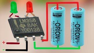 Circuito único del cargador de batería de 3,7 V 1S y 2S / Corte automático de alta precisión LM358