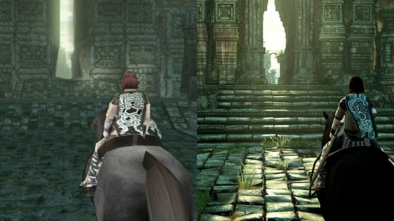 Shadow of The Colossus REMAKE | Intro Comparison | PS4 VS PS2 - YouTube