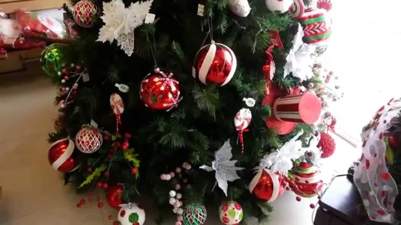 Decoracion arboles de navidad 2017 bolas rojas christmas - Adornos para arbol navidad ...
