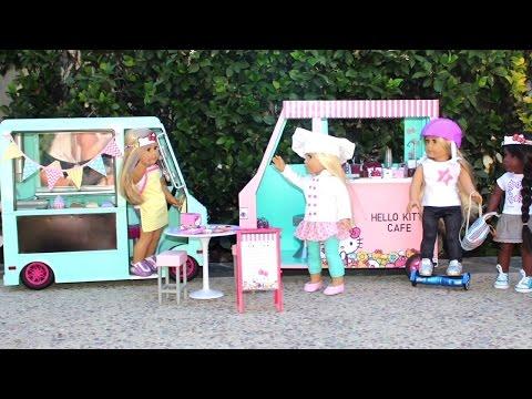 DIY American Girl Doll Hello Kitty Cafe