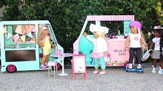 DIY American Girl Doll Hello Kitty Cafe