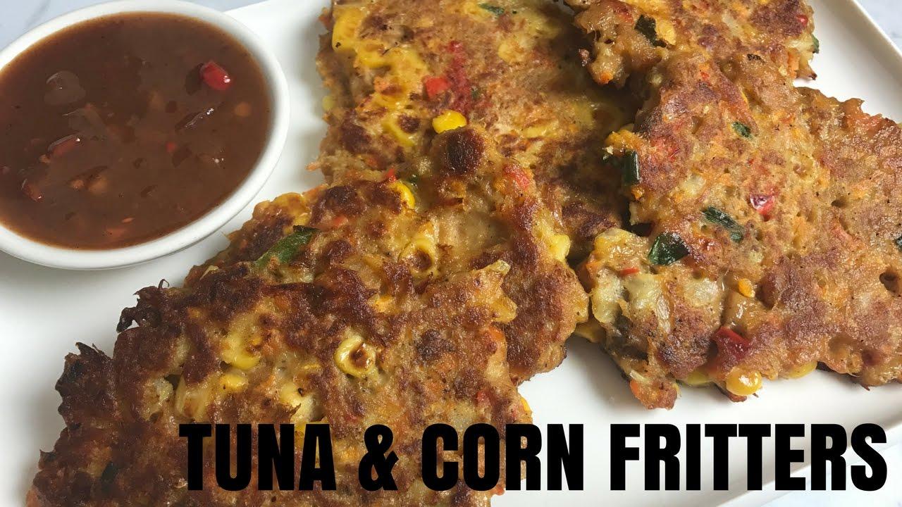 How to make Tuna & Corn Fritters Recipe - YouTube