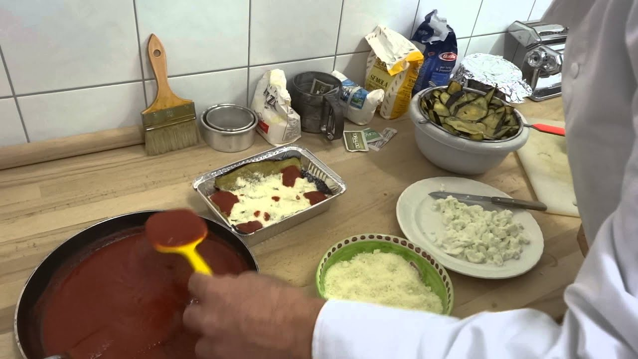 Cours de cuisine italienne melanzane parmigiana youtube - Cours de cuisine italienne ...