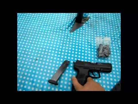 test pistolet a blanc bruni 92f 9mm p a k funnydog tv. Black Bedroom Furniture Sets. Home Design Ideas