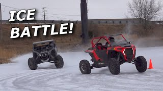 X3, Turbo Talon, and Turbo S BATTLE on the ice! CBOYS cyclone challenge?