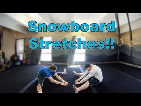Five Snowboard or Skiing Stretches For Beginners!! (Part 1)
