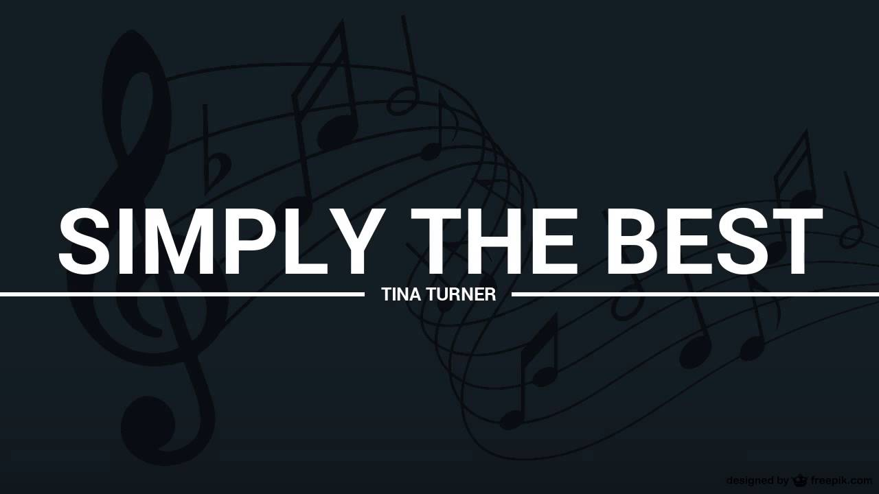 Simply Best >> Tina Turner Simply The Best Lyrics Karaoke Cover Youtube