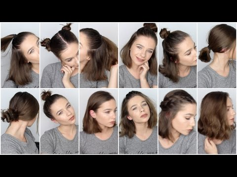 Fast No Heat Hairstyles For Srt Hair | Hair