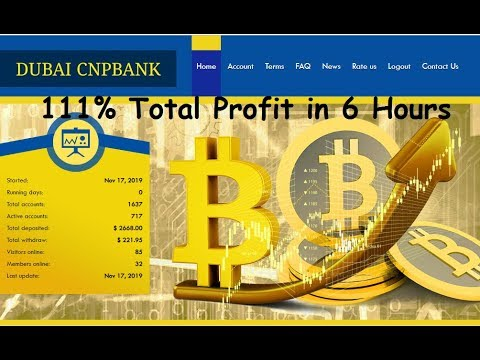 111% Total Profit In 6 Hours   Dubai Cnpbank New Hyip Investment Site  2019 With Instant Payment