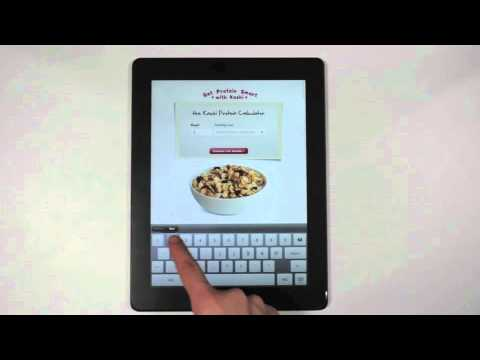 Kashi Ad with Gaming Component in iPad Magazine