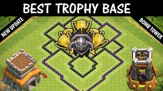 Clash of clans (CoC) - Town Hall 8 (TH8) Master League Trophy Base With