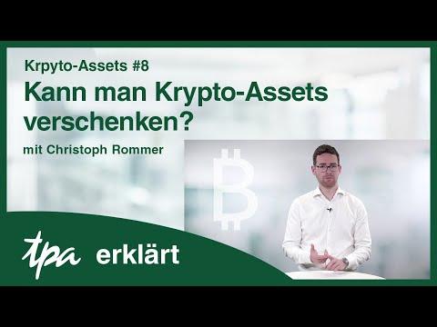Krpyto-Assets #8 Kann man Krypto-Assets verschenken? TPA erklärt-Videos