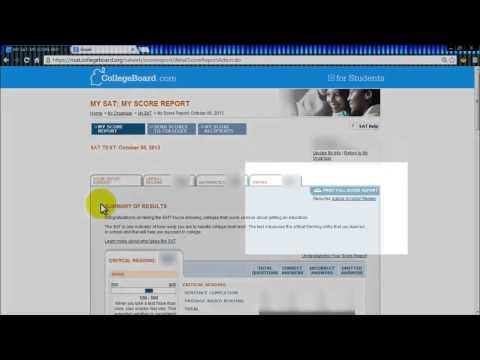 Downloading Sat Score Report Youtube
