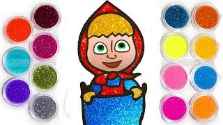 🎨Песочная раскраска Маша. Учимся раскрашивать витражи. Учим цвета с песком. Рукоделие для детей.