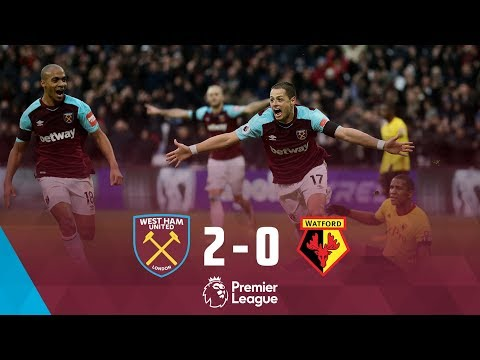 HIGHLIGHTS: WEST HAM UNITED 2 WATFORD 0