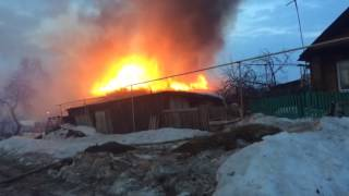 Пожар на Чкалова, 7 апреля 2017, Верхняя Салда