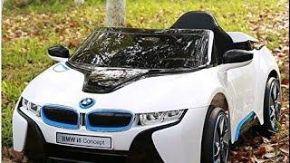 bmw i8 12v kids ride on battery powered wheels car rc remote white