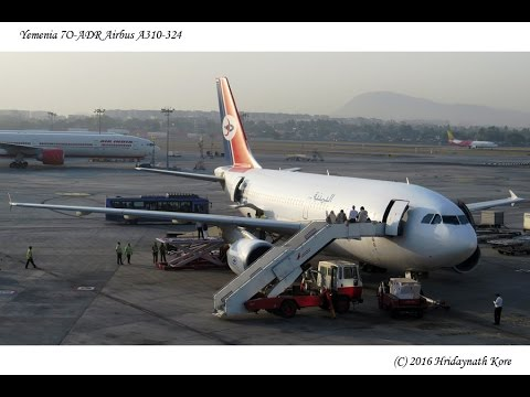 Yemenia 7O-ADR Airbus A310-324 at Mumbai Airport