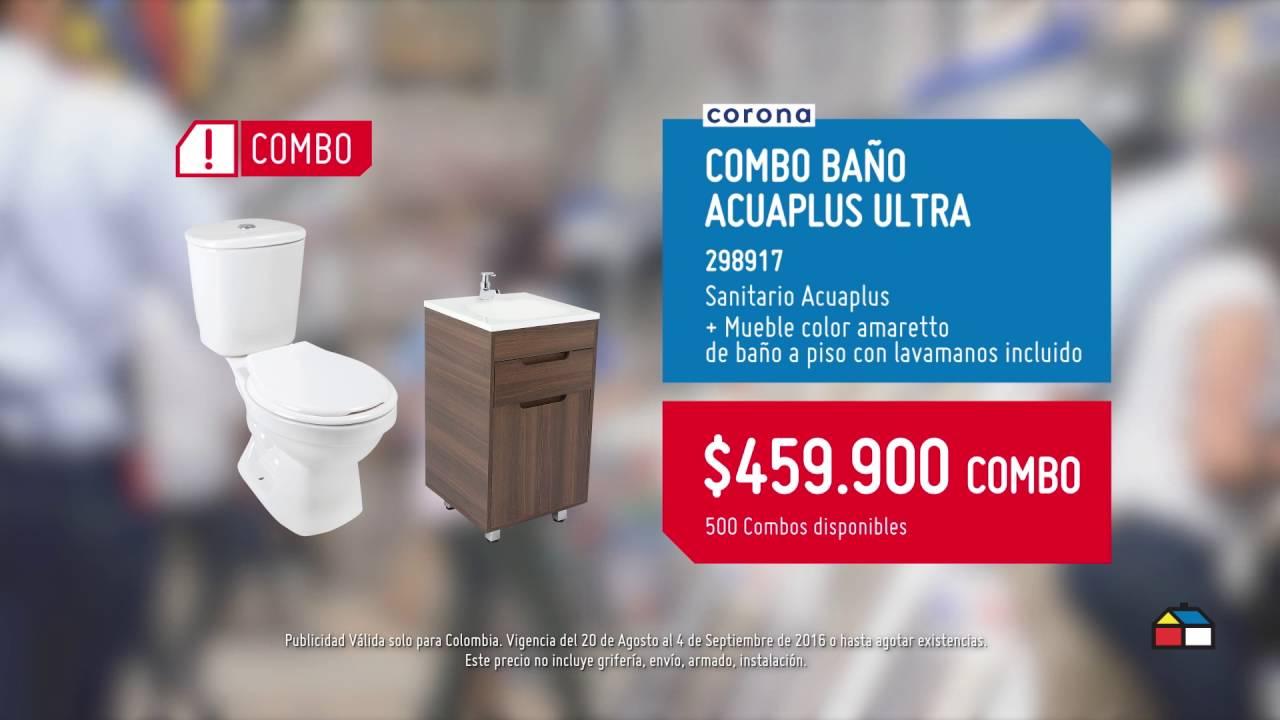 No te pierdas este combo sanitario mueble a un precio for Precio de lavamanos