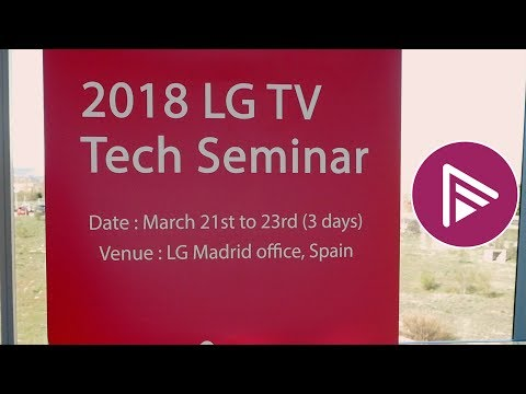 LG OLED TV and Super UHD TV Technical Demo in Madrid