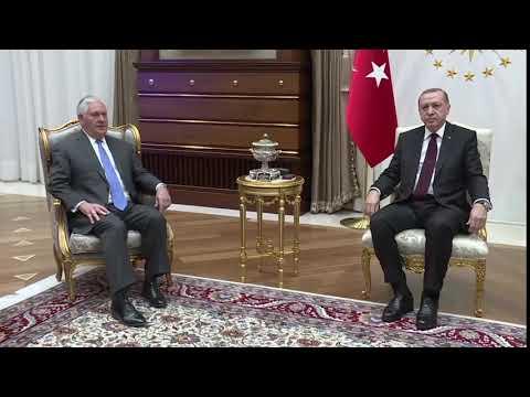 Secretary Tillerson Meets With Turkish President Erdogan in Ankara