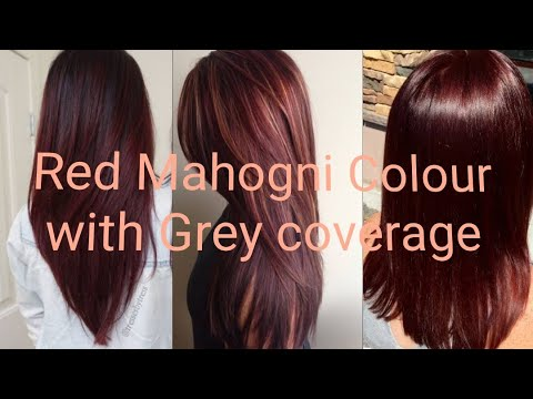 How to do RED MAHOGNI HAIR COLOR with GRAY COVERAGE I Tutorial by AISHA BUTT