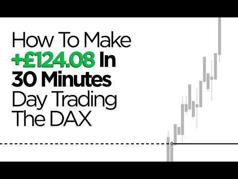 How To Make £124.08 In 30 Minutes Day Trading The DAX