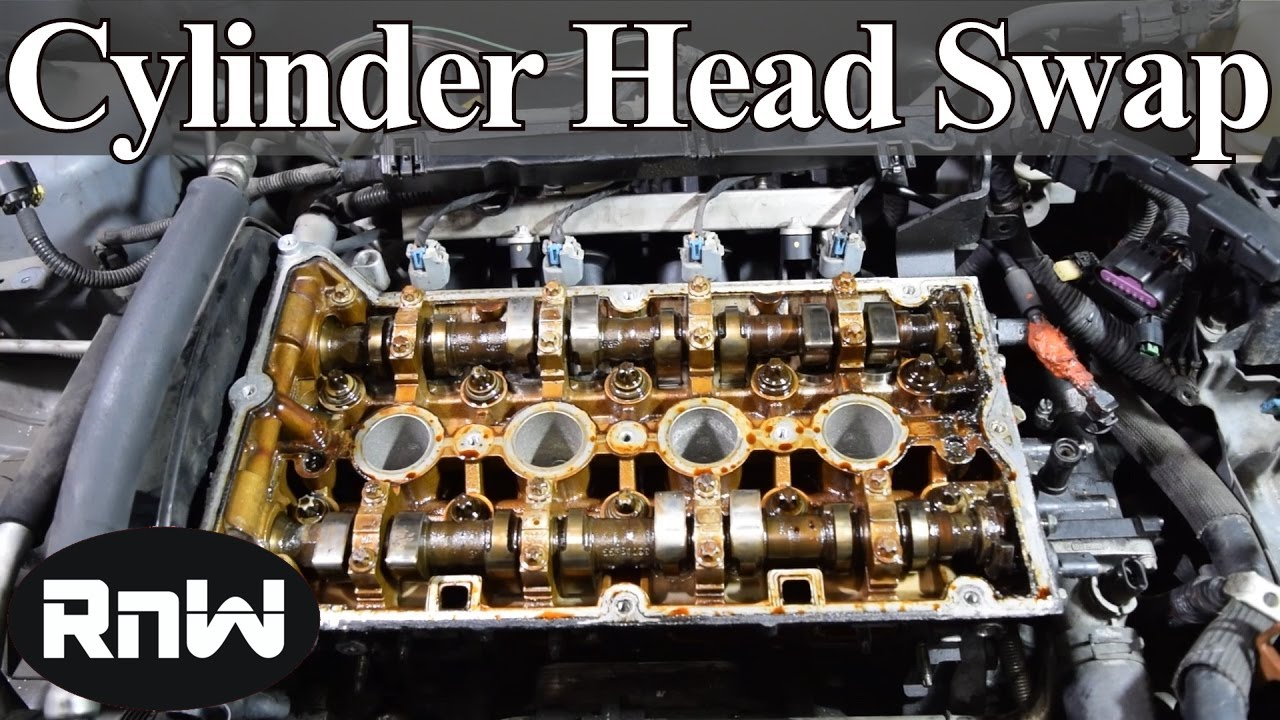 how to remove and replace a cylinder head and gasket on a 4 cylinder engine part i [ 1280 x 720 Pixel ]