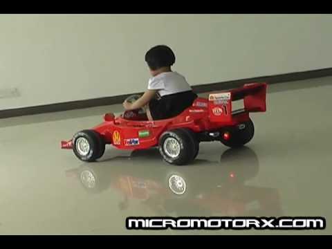 red ferrari f1 ride on race car for kids