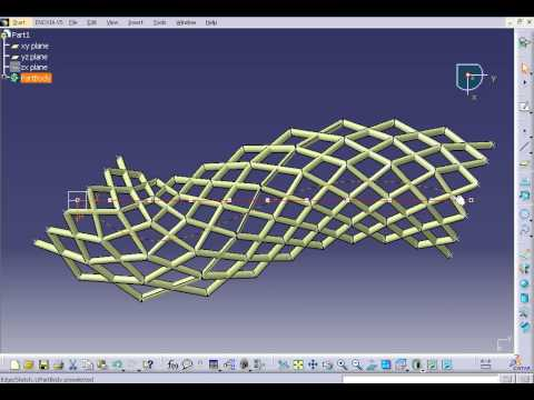 CATIA V5 Parametric Modeling - Roof Structure - YouTube