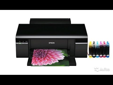 Принтер Epson L800 - настройка, печать фото на диске.
