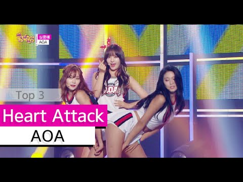 [HOT] AOA - Heart Attack, 에이오에이 - 심쿵해, Show Music core 20150704