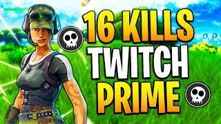 LE NOUVEAU SKIN FORTNITE TWITCH PRIME! 16 KILLS SOLO!