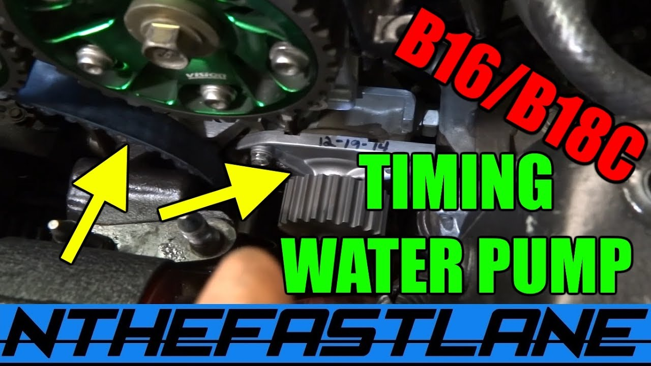 Timing Belt Water Pump Replacement Honda B Series How To Youtube