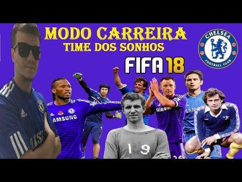CHELSEA - MONTANDO TIME OVERALL 90+ - MODO CARREIRA - FIFA 18
