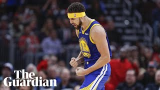 'The best feeling': Warriors' Klay Thompson sets NBA record for three-pointers