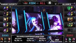 KaBuM vs Alliance | Gąme 2 Group D S4 LOL World Championship 2014 Day 4 | KBM vs ALL D4G3