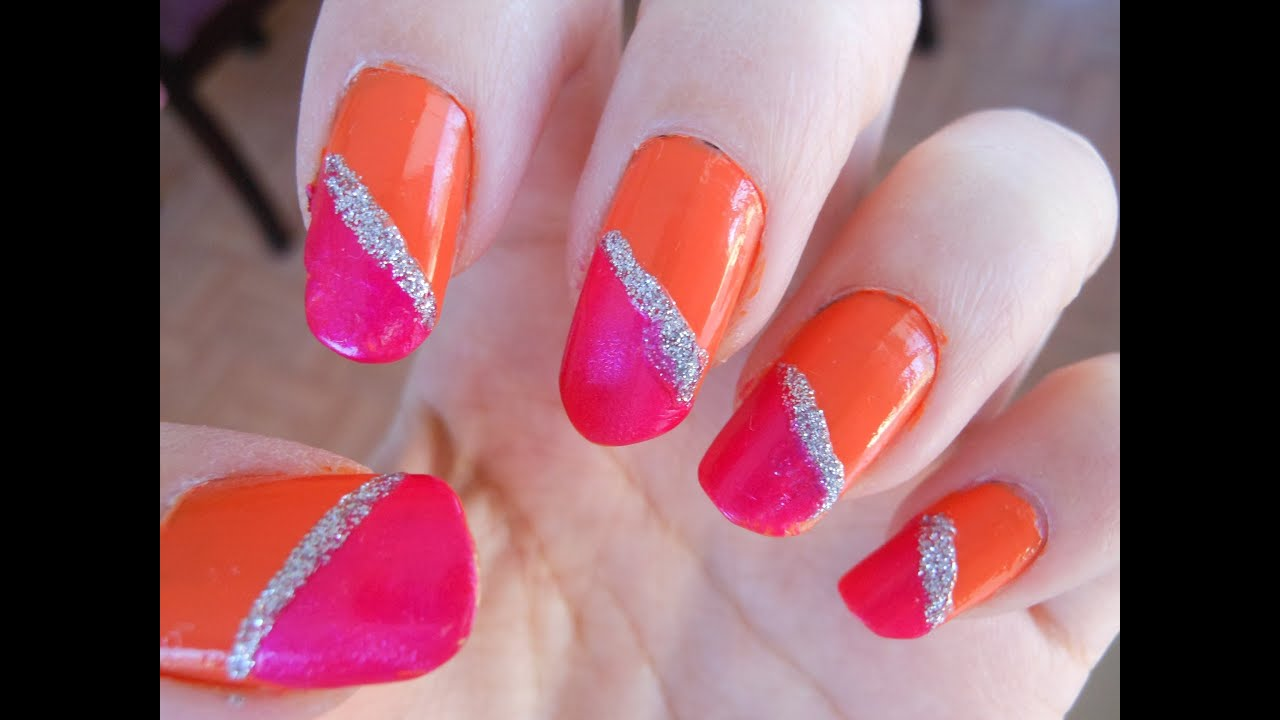 Pink And Orange Nails Best Nail Designs 2018