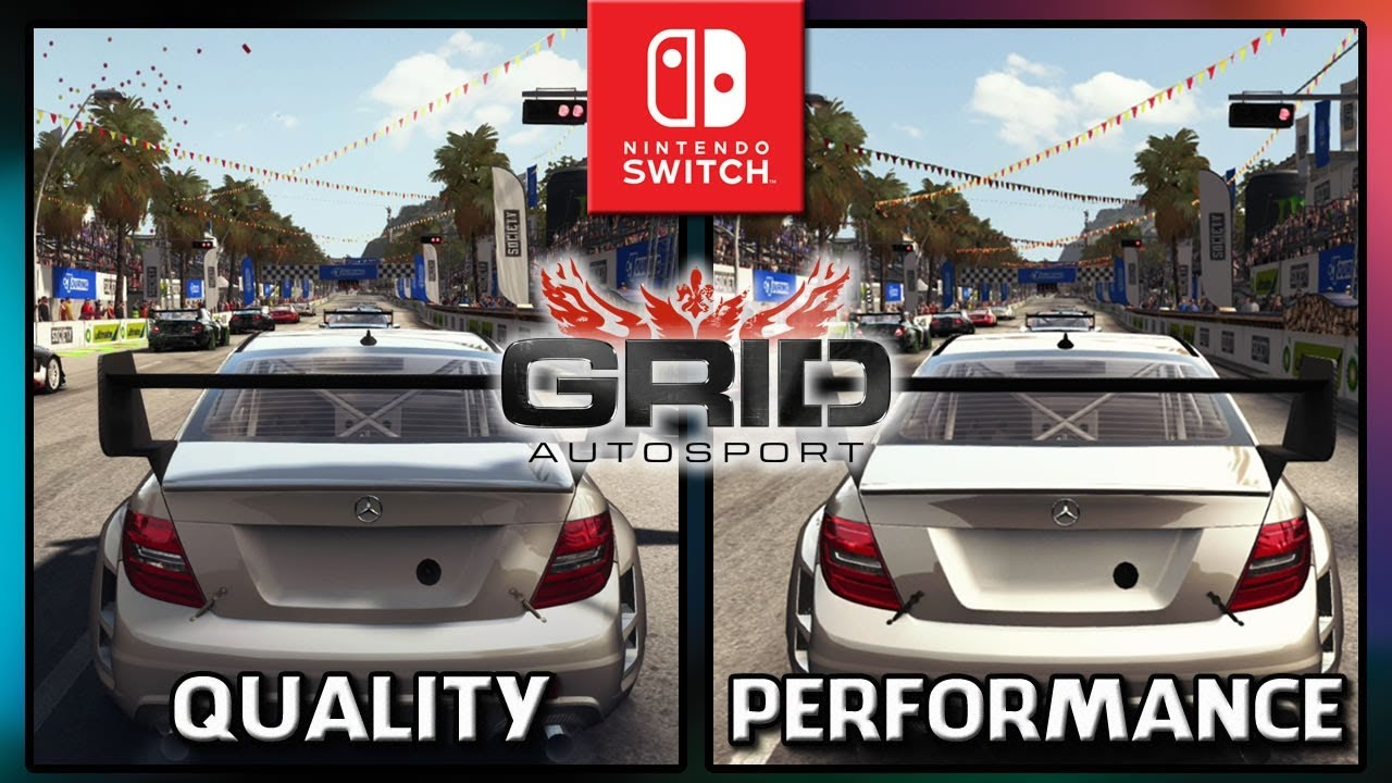 GRID Autosport | Quality VS Performance | Frame Rate TEST on Switch