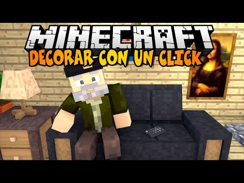 Minecraft | DECORAR CON UN CLICK!! NO MODS | Minecraft Vanilla