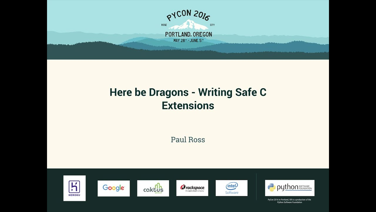 Image from Here be Dragons - Writing Safe C Extensions