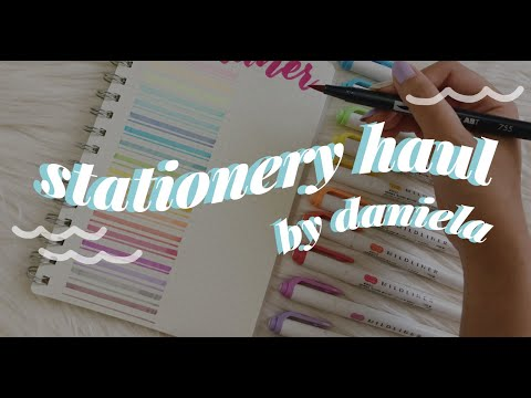 Stationery Haul 2017 | Philippines | Daniela Mea