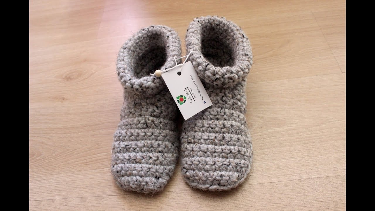 9ae322c7743f9 crochet slipper boots (with voice instructions)