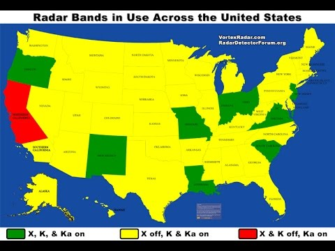 Are Radar Detectors Legal >> What Radar Bands Are In Use In Each State Youtube