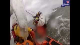 mudeford rnli rescue four people from yacht that ran aground in bad weather