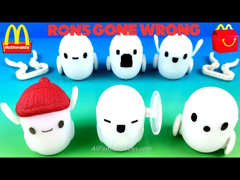 Download McDONALD'S DISNEY RON'S GONE WRONG HAPPY MEAL TOYS COMPLETE SET 6 MOVIE NEXT TOY LUCA SPACE JAM 2021