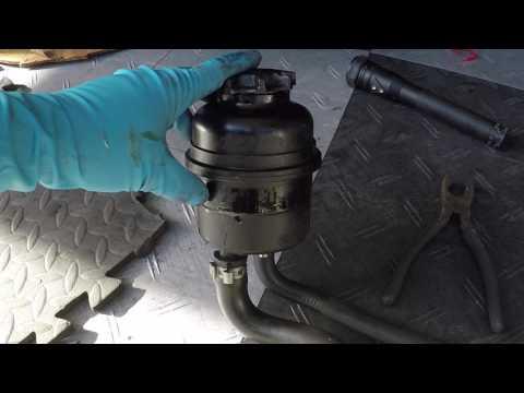 Replace power steering fluid leak colors