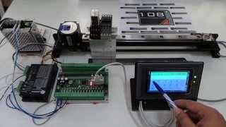 การควบคุม Stepping Motor ด้วย PLC Mitsubishi ผ่าน Touch Screen